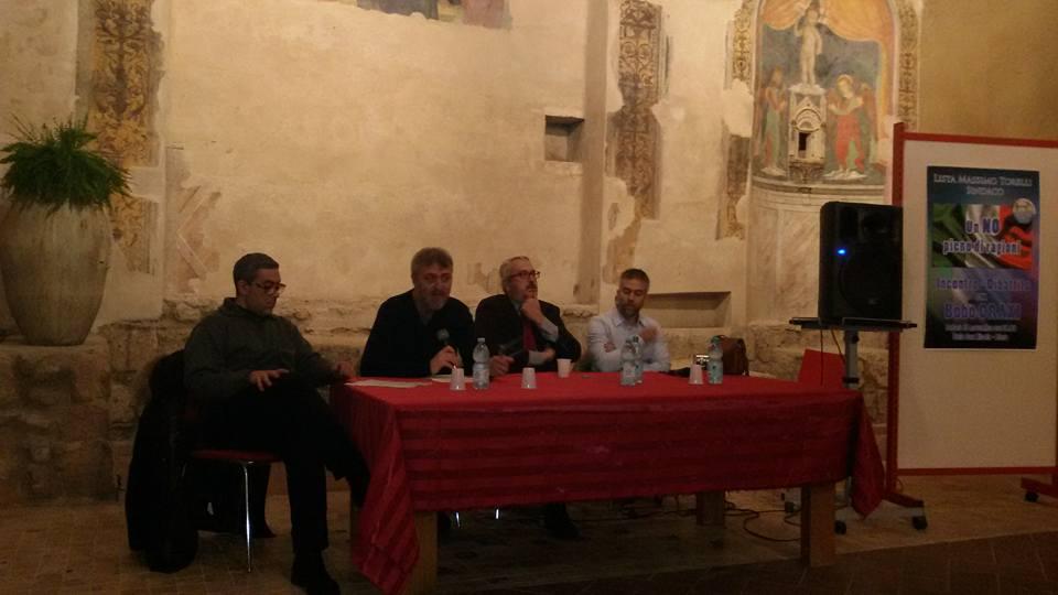 """Bobo Craxi, incontro a Blera:  """"Il SI renziano va rispedito al mittente, le esigenze del paese sono altre"""""""