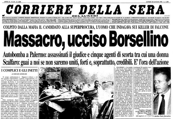 Mercoledì 19 Viterbo ricorderà Borsellino a 25 anni dalla tragica scomparsa con una fiaccolata: il ritratto di cittapaese.it dell'indimenticabile magistrato