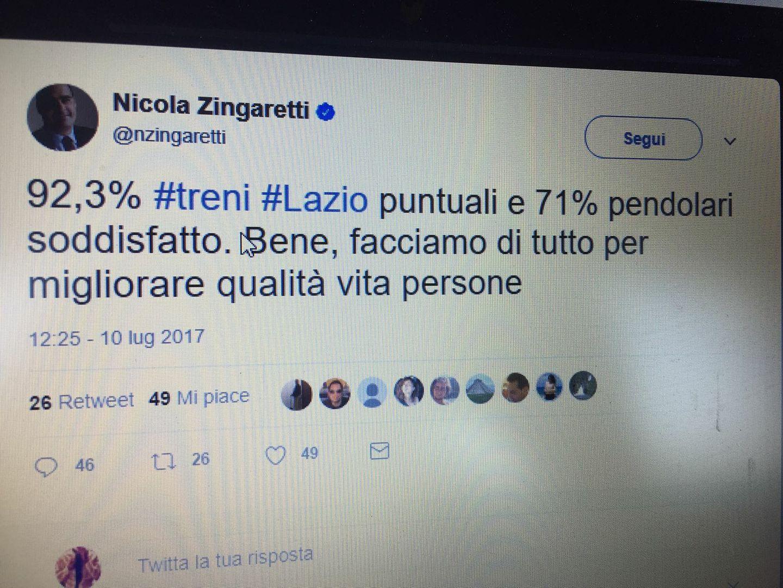 Treni: Viterbo- Roma, un anacronistico travaglio senza fine: ma per Zingaretti va tutto bene, hip hip hurrà!