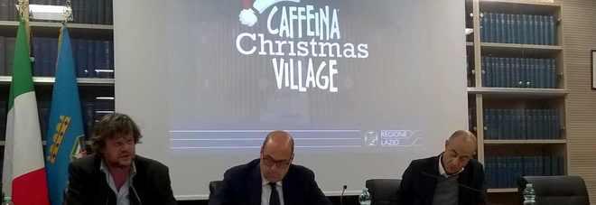 """Il """"Natale elettorale"""" di Zingaretti e Panunzi passa per il Christmas Village: salamelecchi, paroline dolci e buffetti affettuosi tra il Presidente, Rossi e Baffo"""