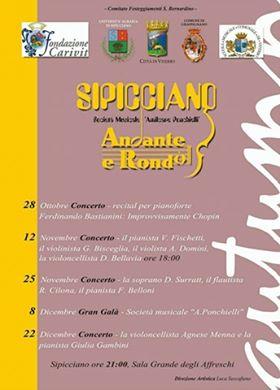 """""""Andante e rondò"""", rassegna musicale internazionale a Sipicciano"""