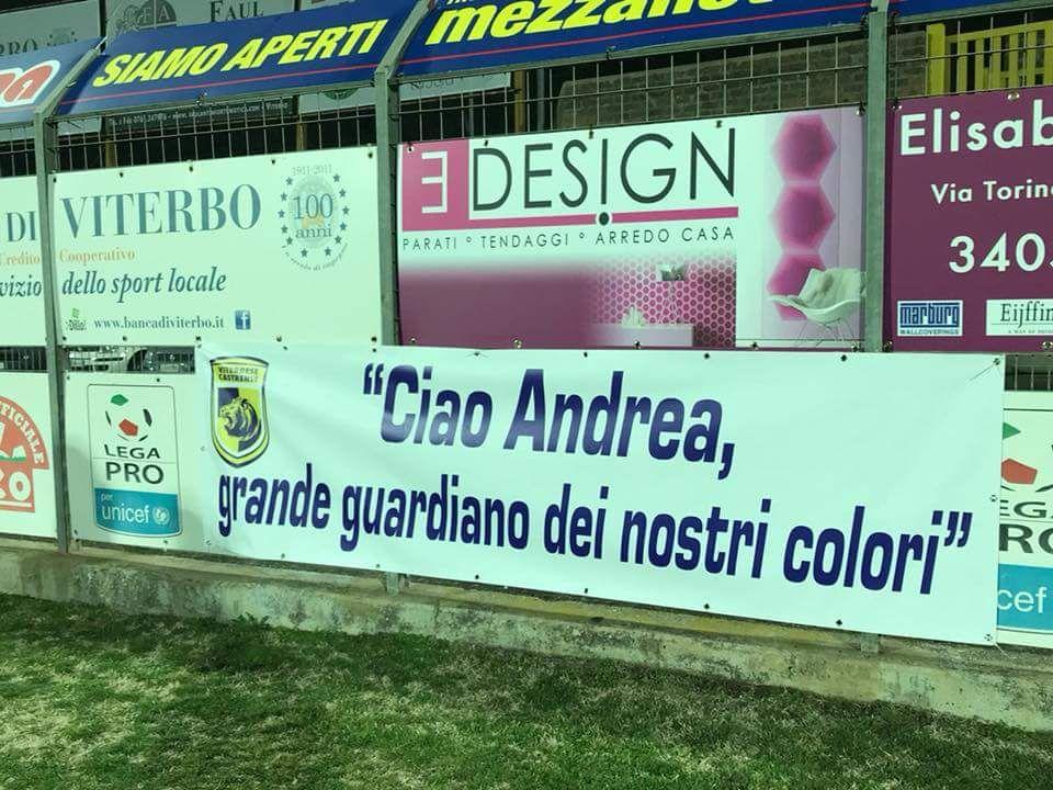 """""""Ciao Andrea, grande guardiano dei nostri colori"""": i tifosi della Viterbese ricordano il giornalista Arena"""