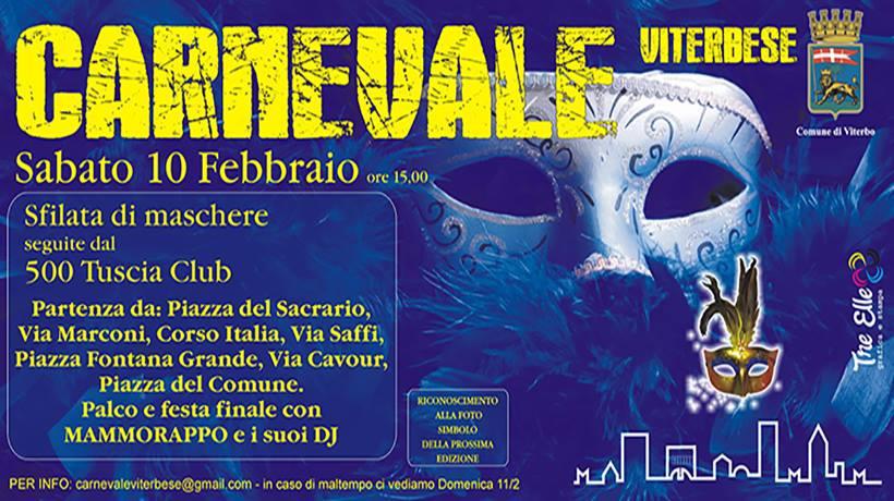 Carnevale Viterbese 2018: fase operativa verso il fatidico 10 febbraio, per aprire la città alla partecipazione