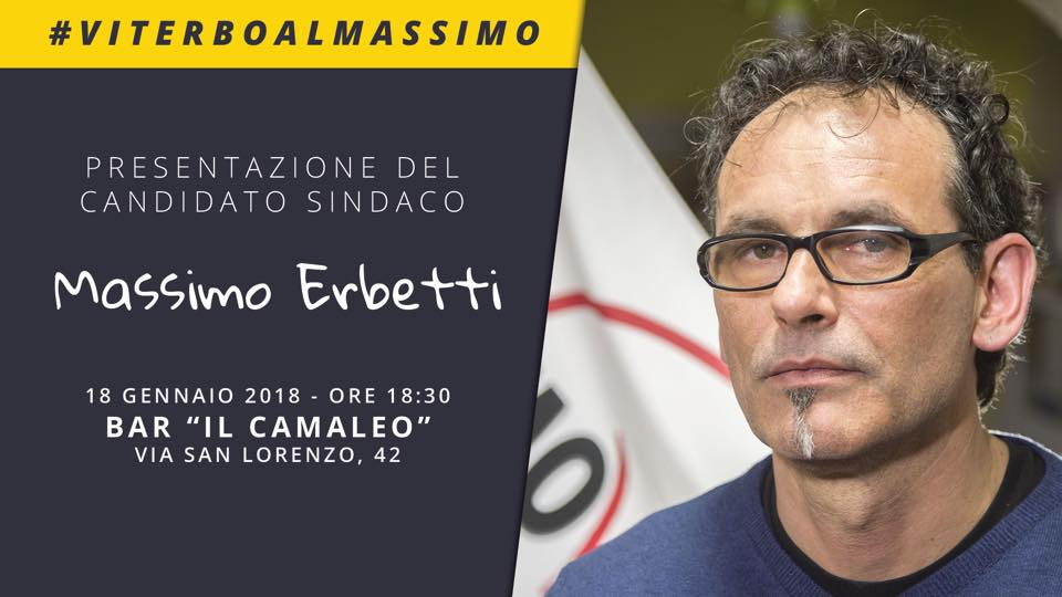 """5 Stelle: ed ora """"Viterbo va al Massimo"""" con Erbetti, il candidato sindaco scelto con un consenso """"Minimo"""""""