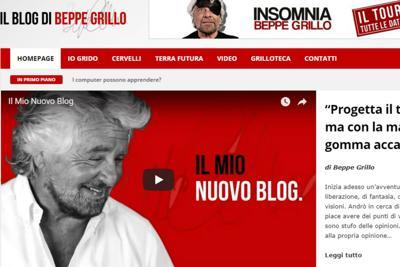 Online il nuovo blog di Beppe Grillo, e i 5 stelle non ci sono quasi….