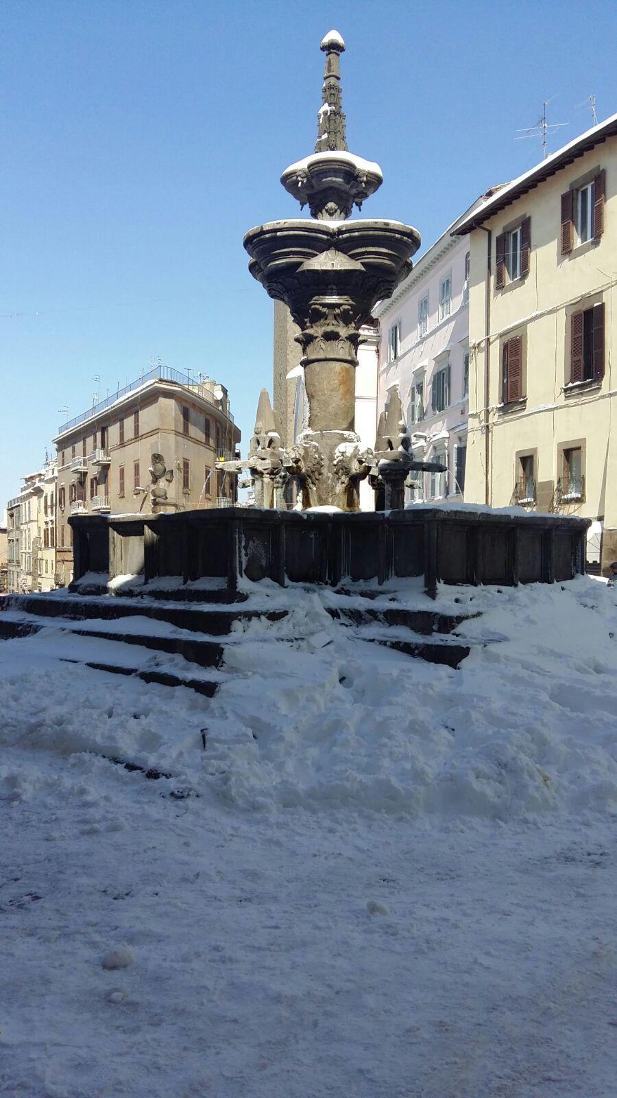"""Emergenza neve: un favore, per """"troppo amore"""", che sia un priorità liberare le fontane dalla neve"""