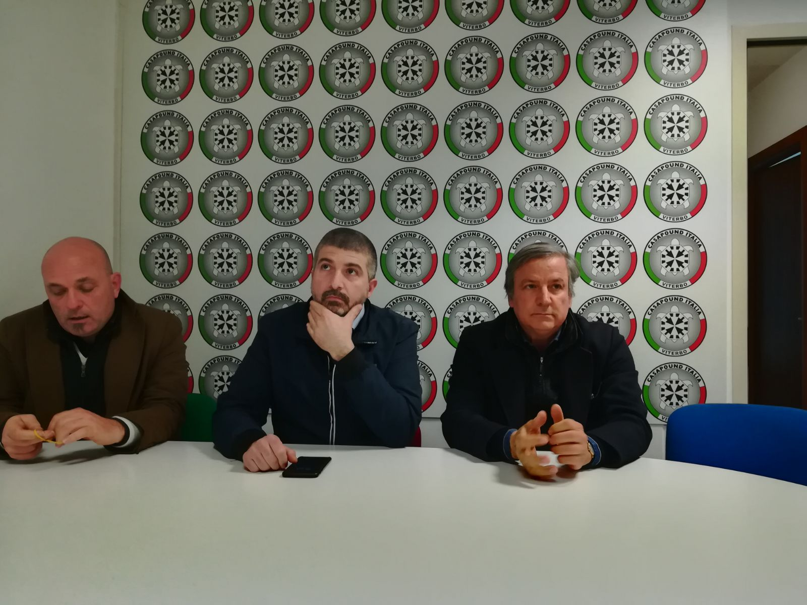 """Verso il voto di maggio: il leader di Casa Pound  Di Stefano a Viterbo: """"Parteciperemo alle comunali"""""""