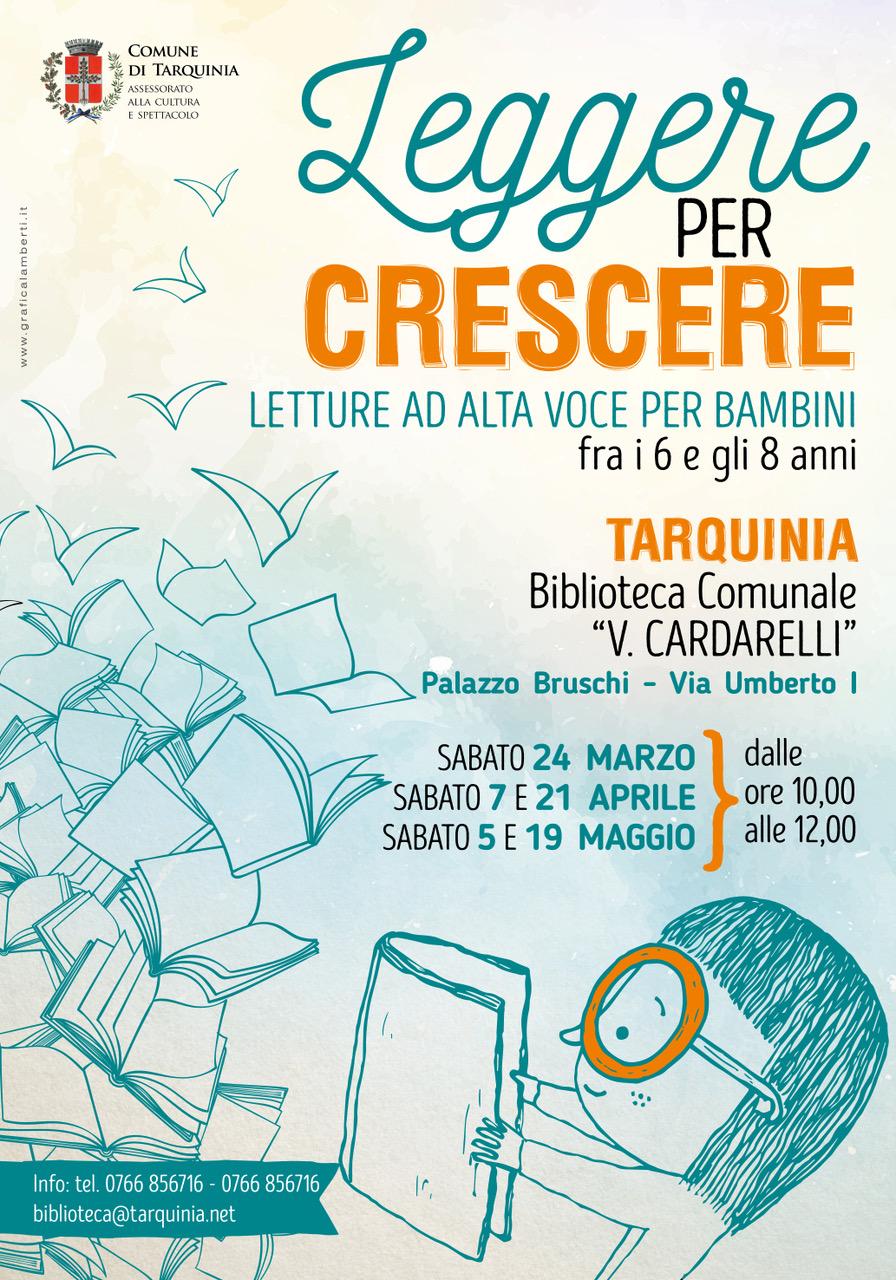 """Tarquinia, """"Leggere per crescere"""", letture per bambini in Biblioteca"""