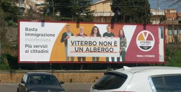 """Manifesti """"Viterbo non è un albergo"""":  è ora che la Frontini e il suo movimento li definiscano definitivamente """"un grave errore di percorso"""""""