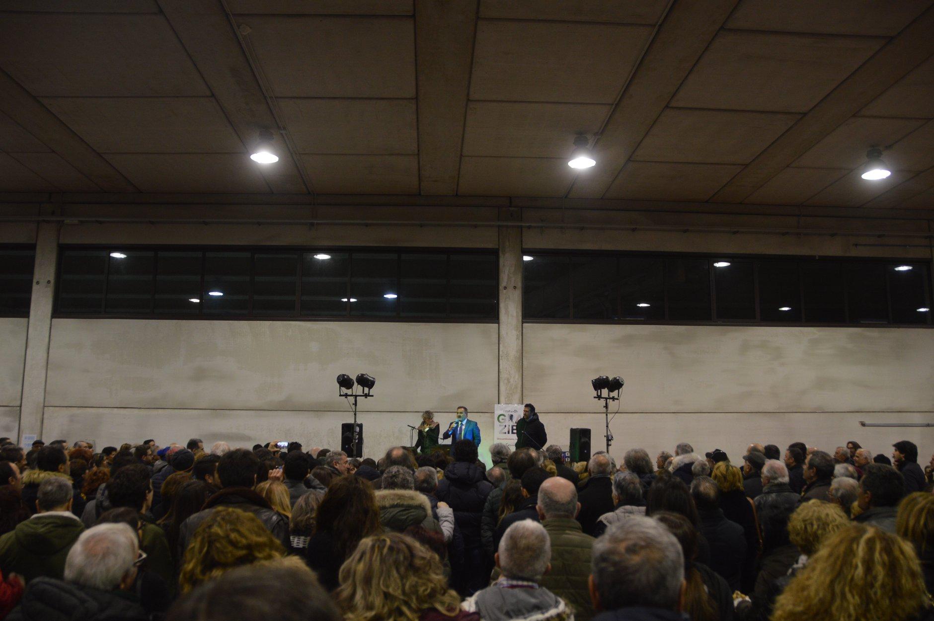 """Dopo-voto: """"Con Zingaretti ce la faremo"""", grande folla a Canepina per l'incontro post-elettorale  con Enrico Panunzi"""