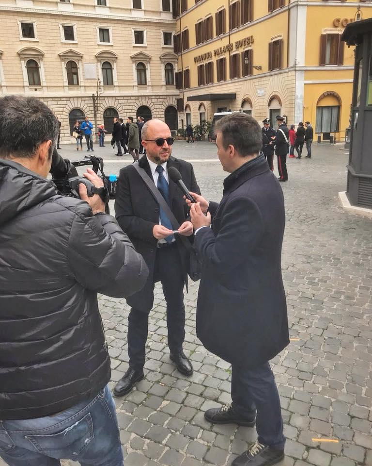 """Primo giorno al Parlamento: """"Che sorpresa, non immaginavo un ambiente così giovane"""", Mauro Rotelli nel giorno del suo prestigioso """"battesimo"""""""