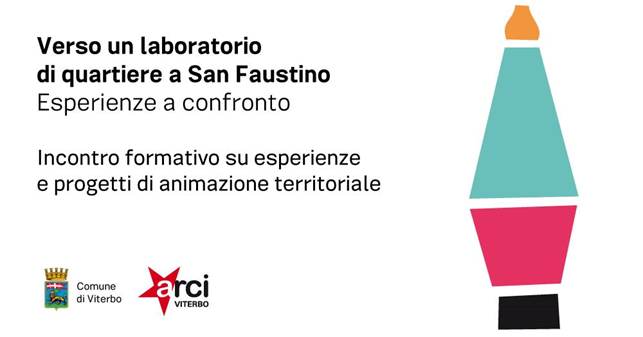 """Incontri: """"Verso un laboratorio di quartiere a San Faustino"""", il 16 marzo allo Spazio Arci Biancovolta"""