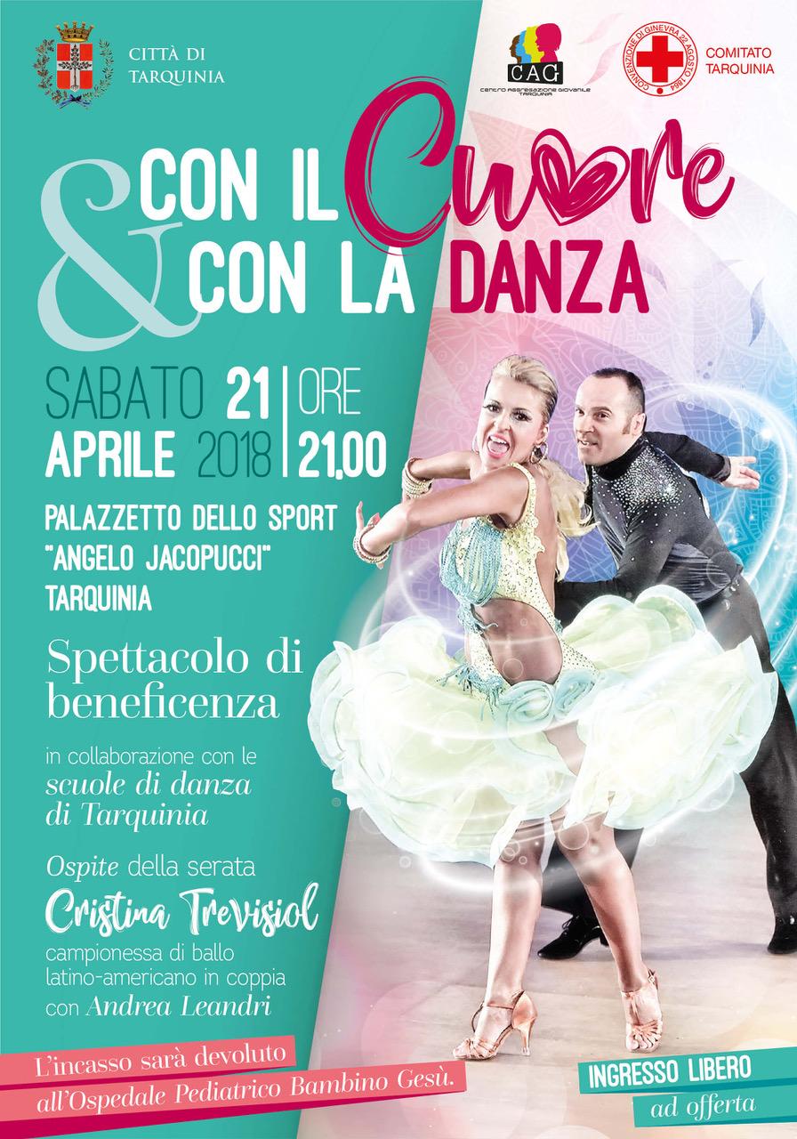 """""""Con il cuore e con la danza"""", spettacolo di beneficenza a Tarquinia"""