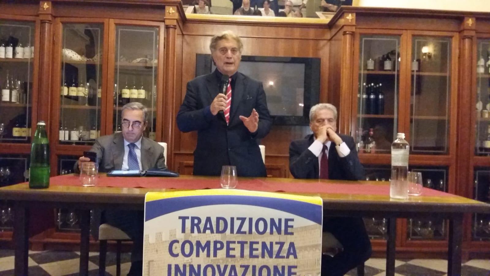 """Comunali: """"Il cdx deve tornare a governare questa città"""", l'ex ministro Gasparri a Viterbo per sostenere Arena"""