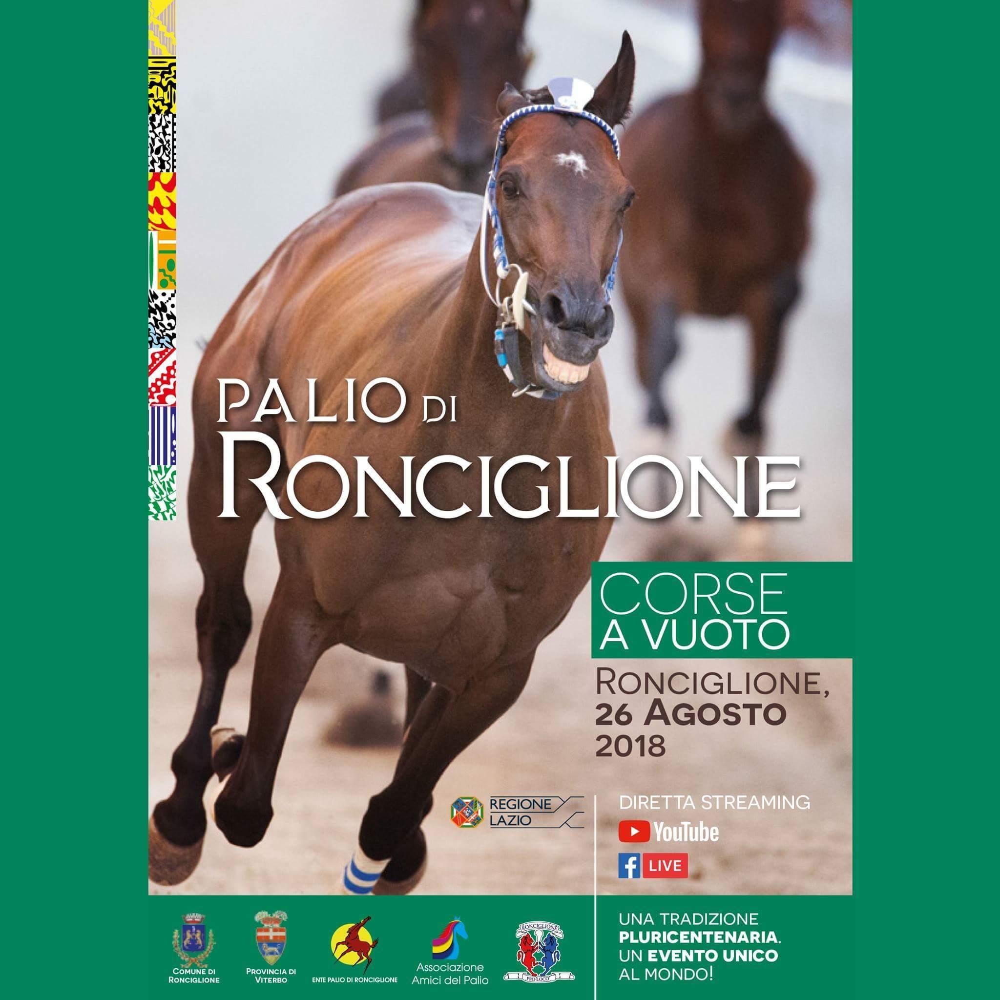 Ronciglione, iniziata ufficialmente la settimana del Palio delle Corse a Vuoto di Ronciglione