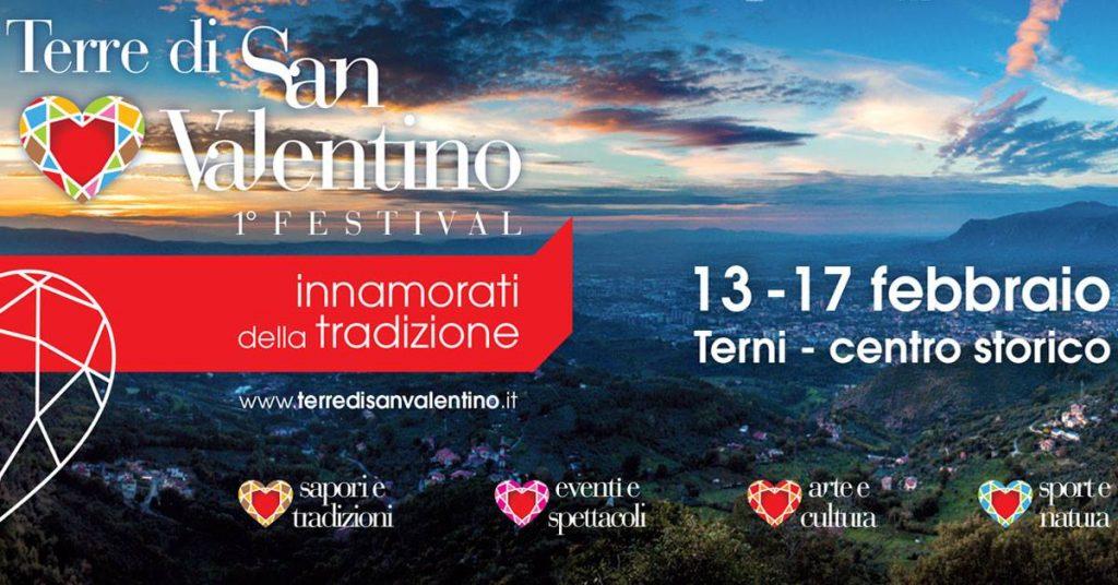 """Terni, """"Terre di San Valentino"""", il festival dedicato ad enogastronomia, sport, arte, dal 13 al 17 febbraio"""