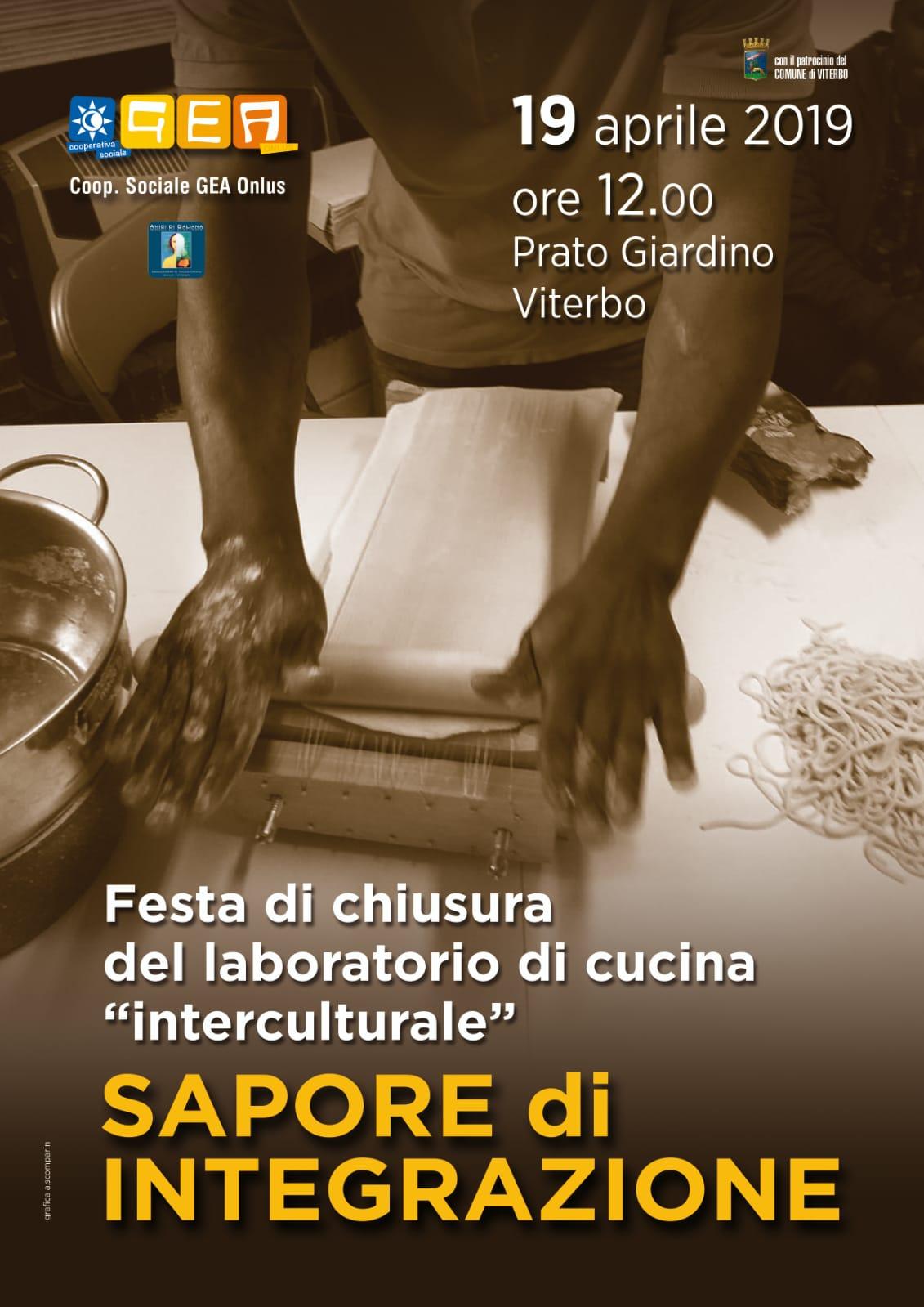 """Viterbo, eventi: """"Sapore di integrazione"""", a Prato Giardino la festa di chiusura del laboratorio di cucina """"interculturale"""""""