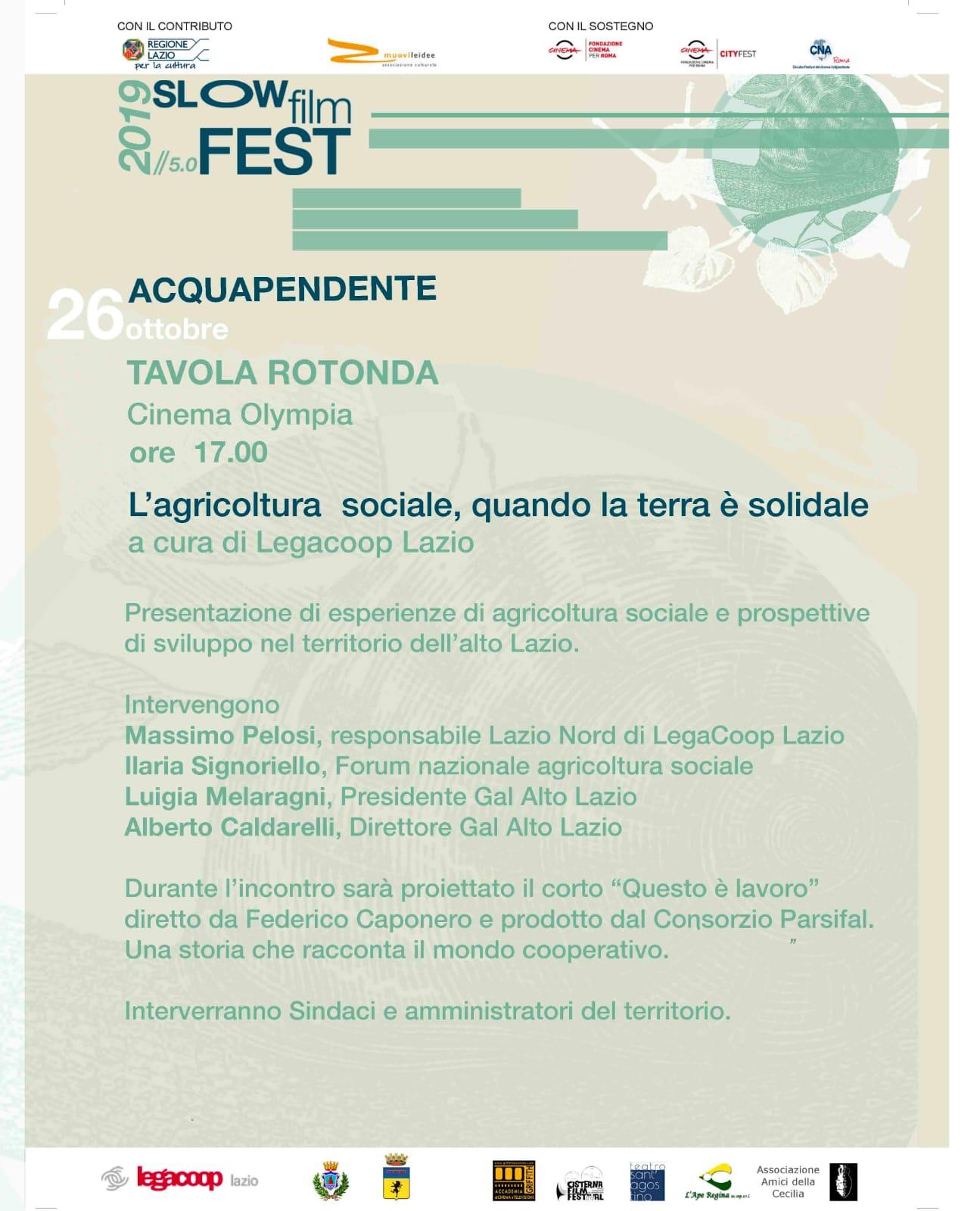 """Acquapendente, """"L'Agricoltura sociale, quando la terra è solidale"""", tavola rotonda sabato 26 ottobre"""