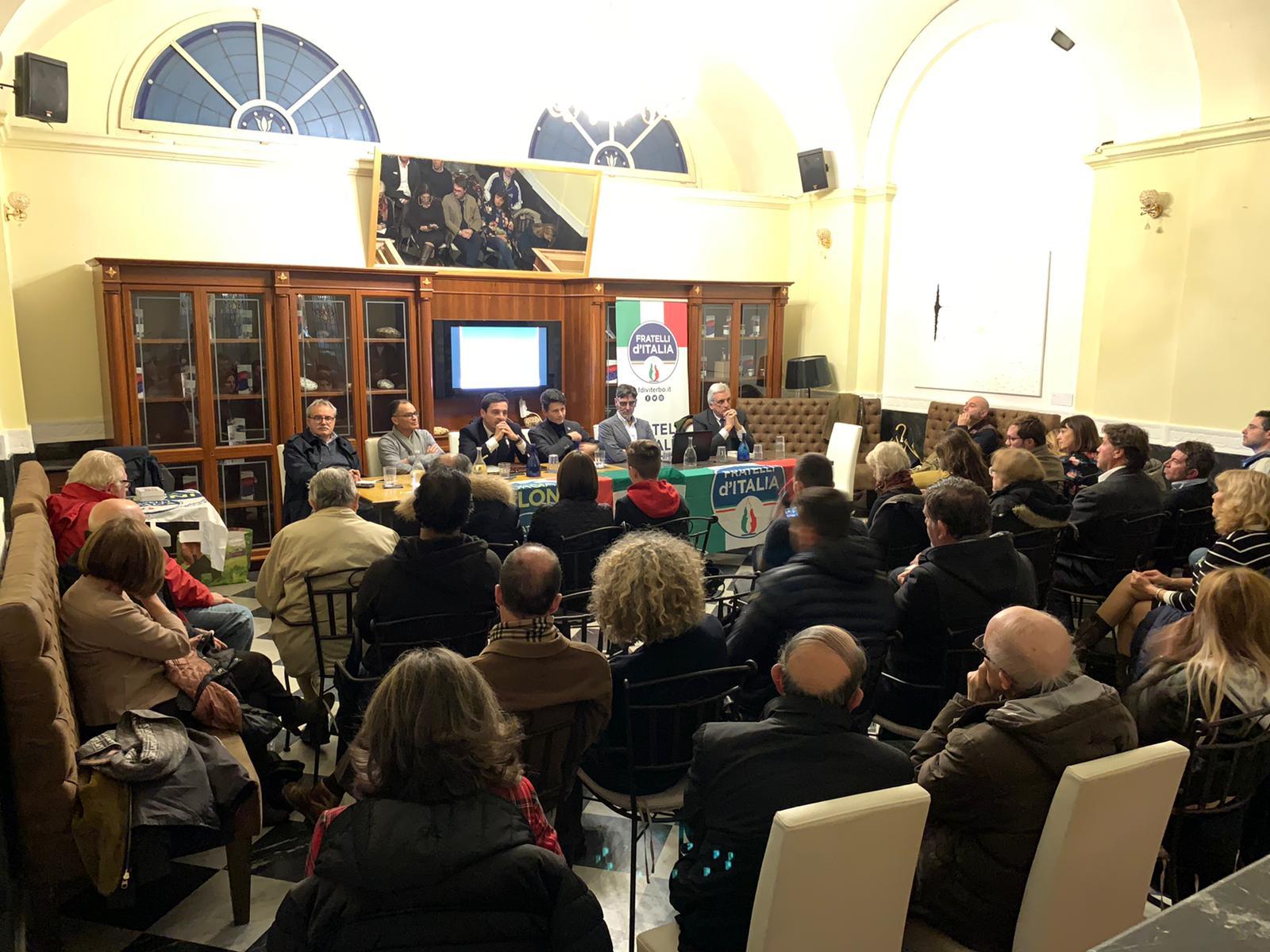 Viterbo, Immigrazione, folta partecipazione all'incontro organizzato da Fratelli d'Italia