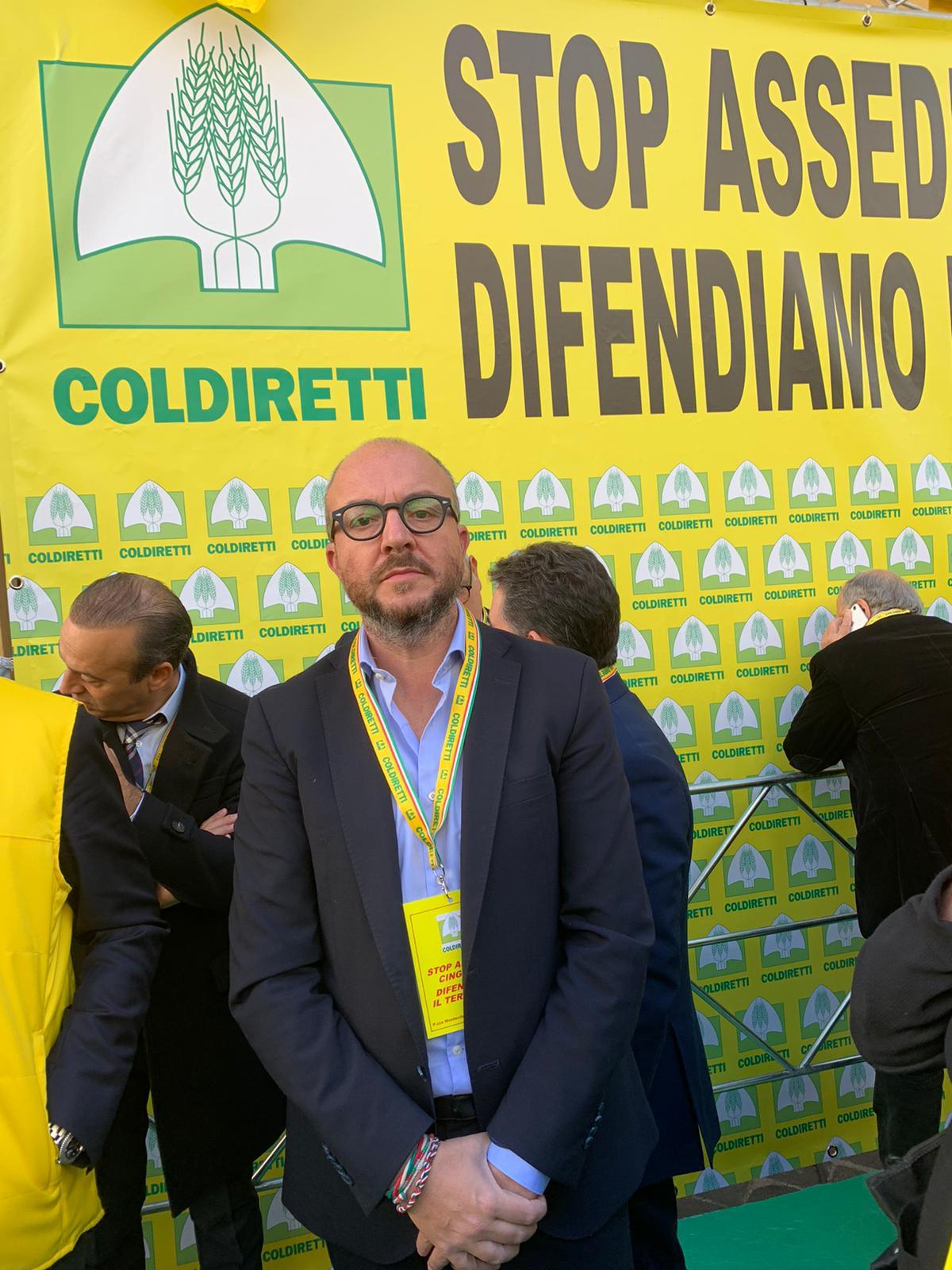 """Viterbo-Roma, manifestazione a Piazza Montecitorio, Rotelli (Fdi): """"In piazza con la Coldiretti per difendere il territorio dall'""""invasione di cinghiali"""""""
