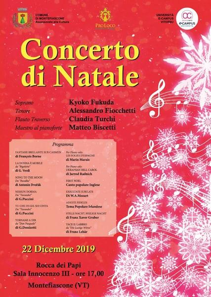 Montefiascone, Concerto di Natale il 22 dicembre alla Rocca dei Papi