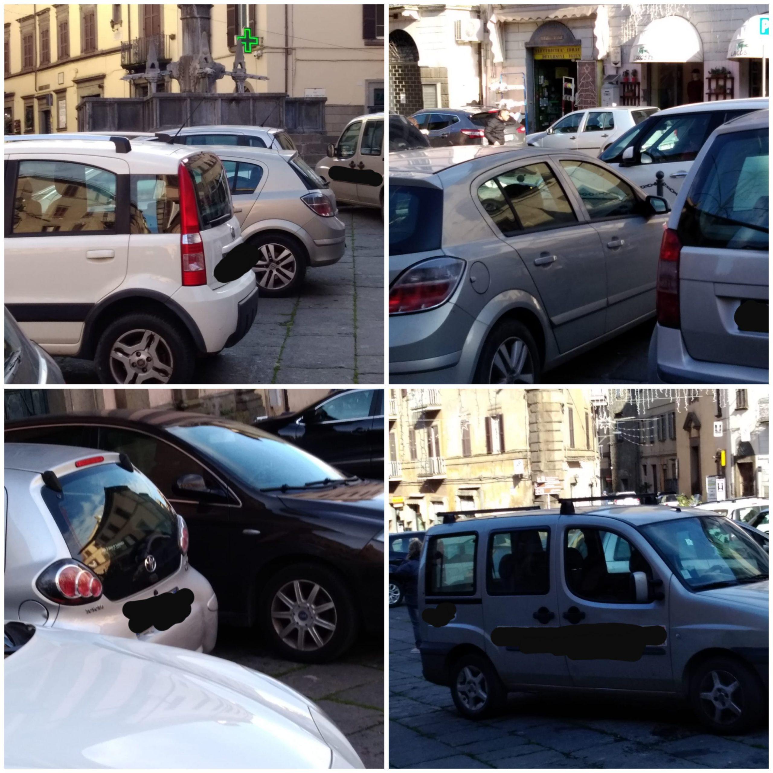 Viterbo, il parcheggio selvaggio occupa piazza Fontana Grande, nel silenzio assordante del  comandante dei vigili distratto…