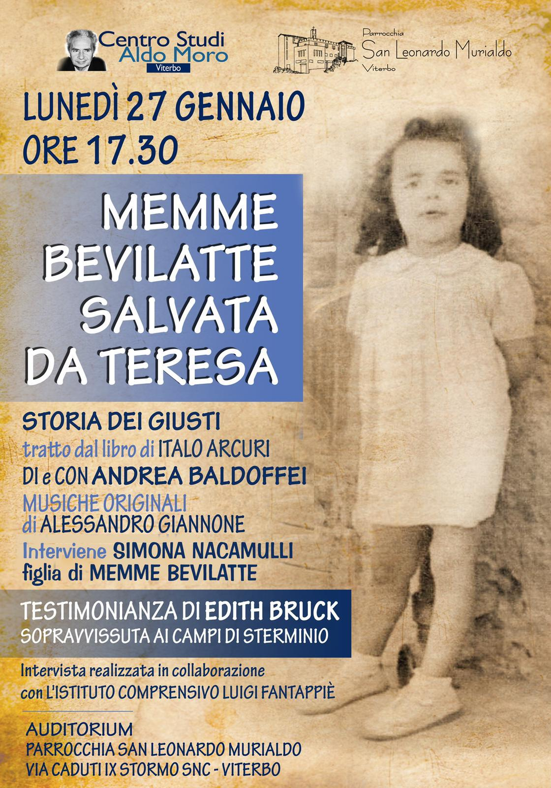 Viterbo, giorno della memoria, le iniziative del Centro Studi Aldo Moro all'Auditorium Parrocchia Murialdo