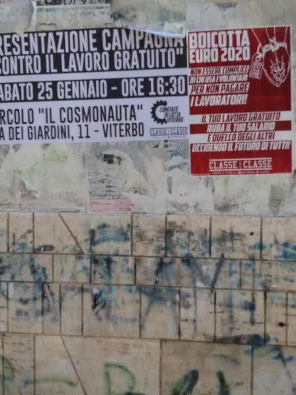 """Viterbo, lo scandalo del """"volontariato"""" che diviene """"sfruttamento del lavoro gratuito"""", una emergenza viterbese, incontro pubblico sabato a Il Cosmonauta"""