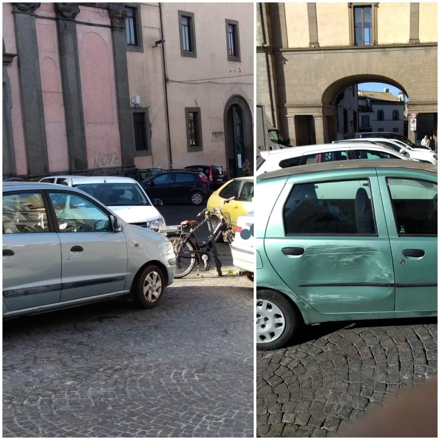 """Viterbo, disastro """"parcheggio selvaggio"""": """"cartoline"""" da Viterbo per l'assessore Ubertini e il comandante Vinciotti,  magari sono distratti…"""