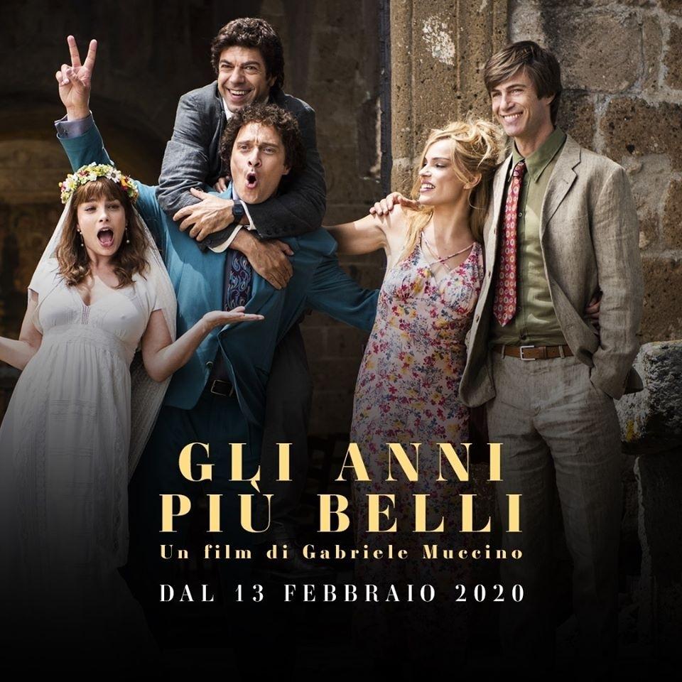 """Viterbo, Cinema:  """"Gli anni più belli"""" di Muccino dal 13 febbraio al Cinema Lux"""