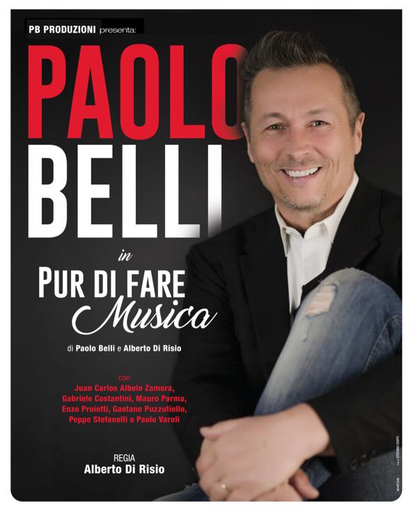 """Montalto di Castro, Teatro: """"Pur di far rumore"""",  Paolo Belli al Lea Padovani il 15 febbraio"""