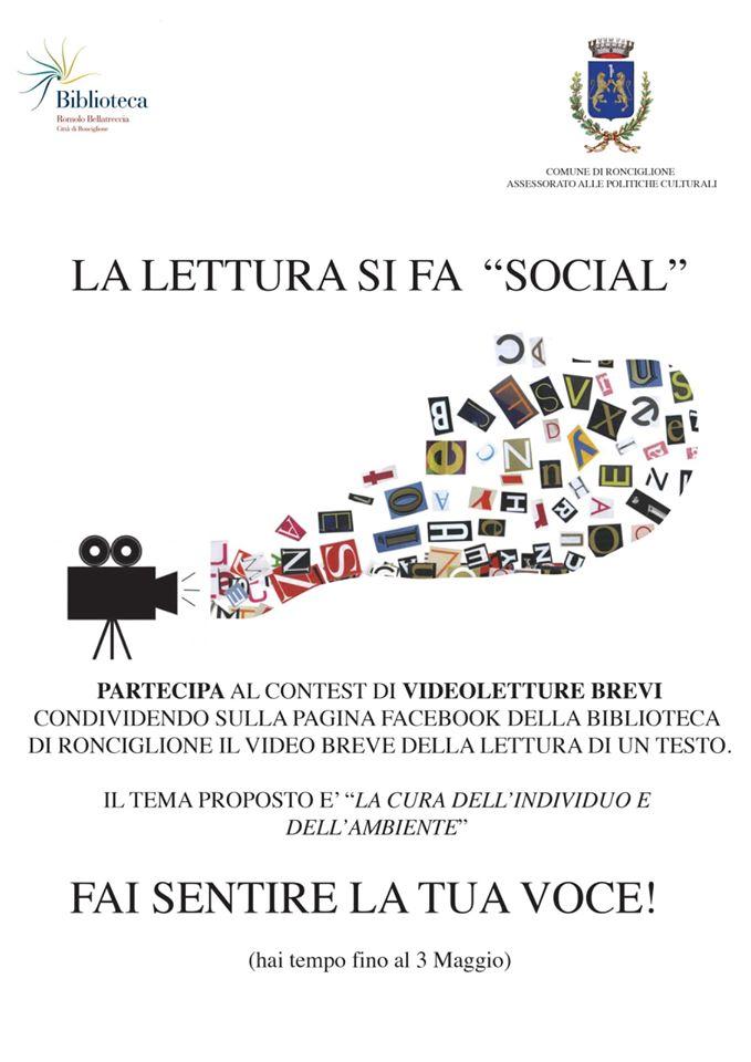 """Viterbo, Provincia, Coronavirus, """"La lettura si fa social"""", iniziativa della biblioteca comunale """"Romolo Bellatreccia"""" di Ronciglione"""