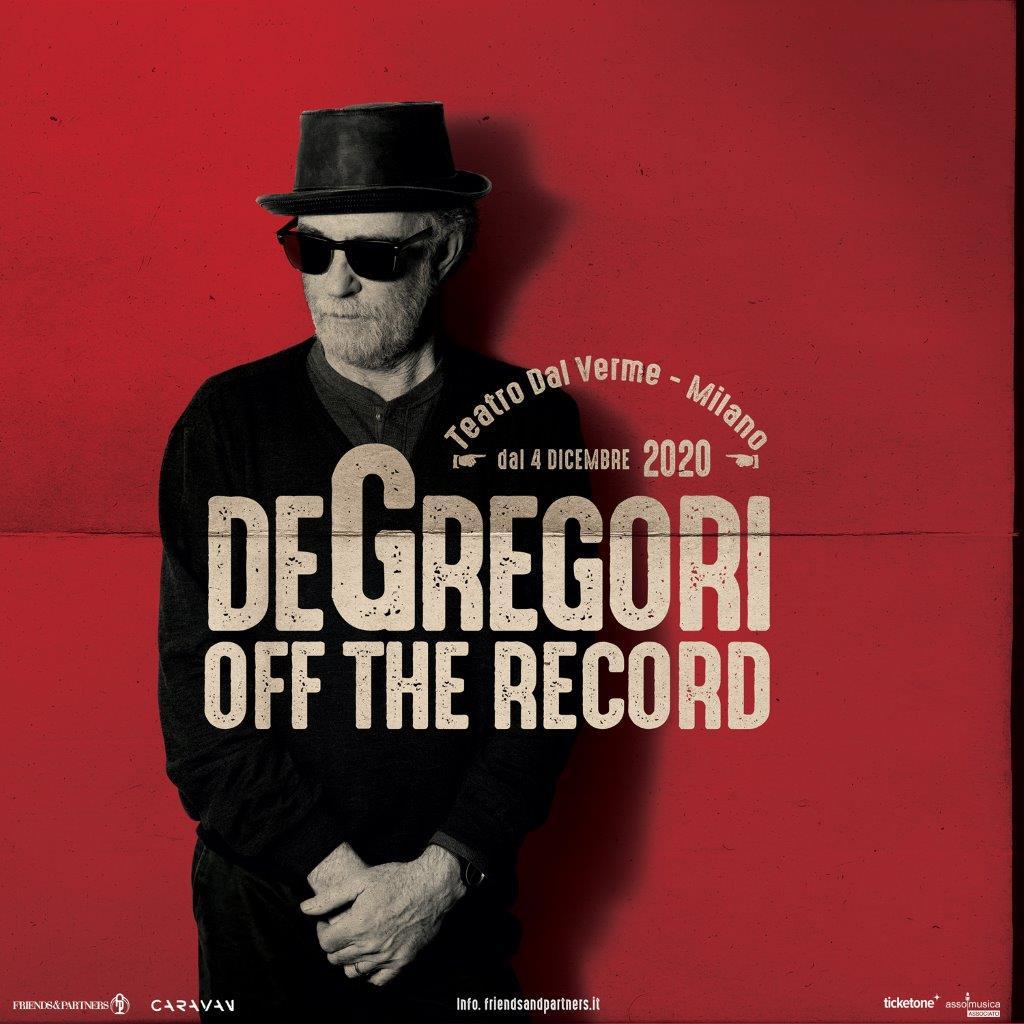 """Musica live, De Gregori """"off the record"""" al Teatro dal Verme di Milano dal 4 al 6 dicembre"""