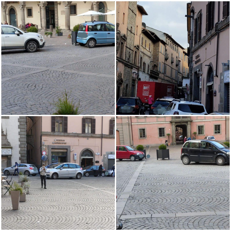 Viterbo, Piazza del Comune, l'eterna babilonia, ma il comandante Vinciotti e l'assessore Ubertini sono passati ad altro incarico?