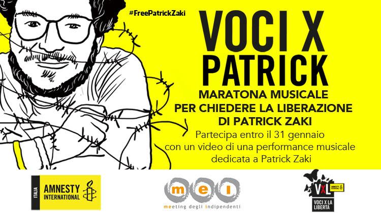 Eventi, Mei e Amnesty International, l'8 febbraio  maratona musicale per la liberazione di Patrick Zaki
