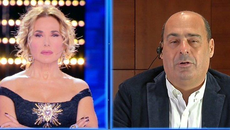 Tv e politica, la D'Urso ringrazia Zingaretti e il cerchio si chiude (amen)
