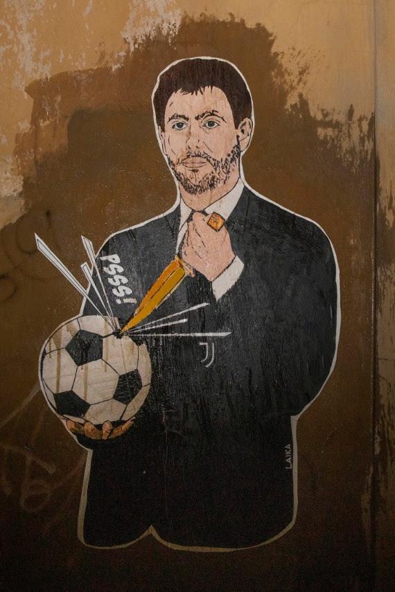 Superlega, a Roma un  murale contro Andrea Agnelli