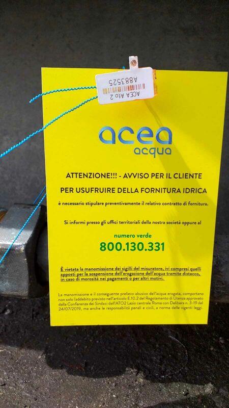 Roma, zona la Pisana, sessanta famiglie senza acqua a causa di un debito con Acea
