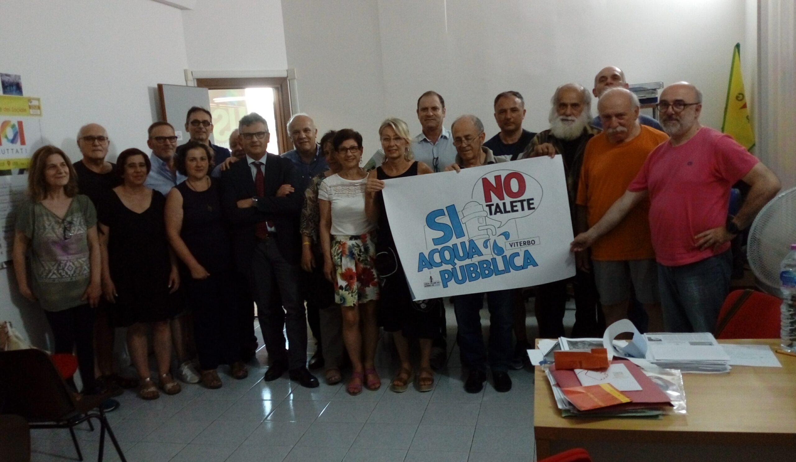Viterbo, Non ce la beviamo, manifestazione venerdì 4 giugno: fermiamo la privatizzazione dell'acqua