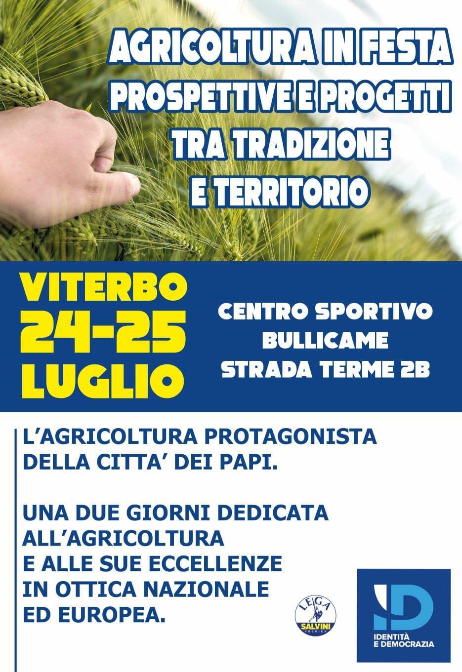 Lega Viterbo: il 24 e 25 luglio una due giorni dedicata all'agricoltura e alle sue eccellenze