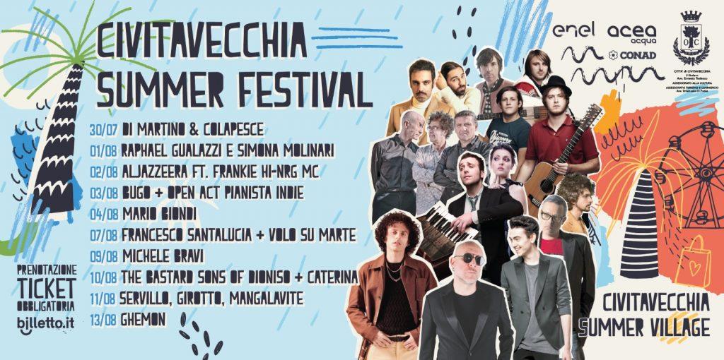 Civitavecchia, Di Martino- Colapesce aprono il Civitavecchia Summer Festival
