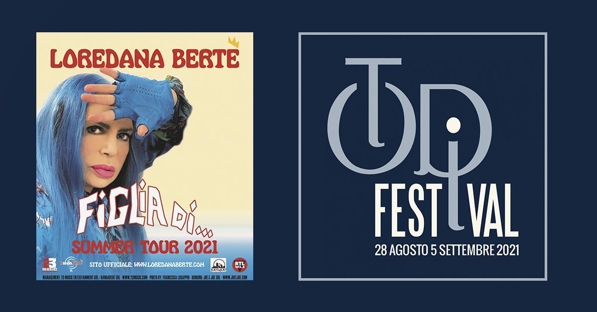 Musica, l'evento, Loredana Bertè chiude stasera il Todi Festival con il live Figlia di… Summer Tour